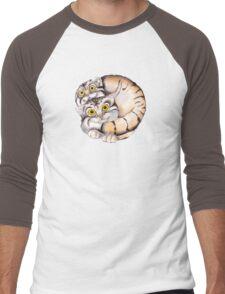Cat Ball Friendship Men's Baseball ¾ T-Shirt