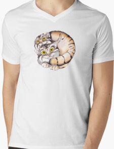 Cat Ball Friendship Mens V-Neck T-Shirt