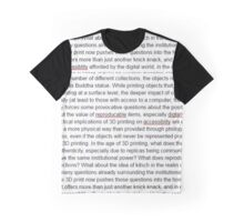 comments on digital reproduction in a physical world Graphic T-Shirt