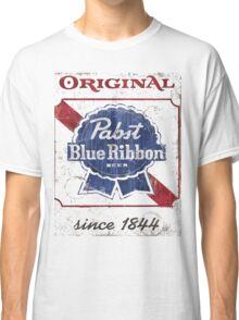 Pabst Blue Ribbon Beer Distressed Classic T-Shirt