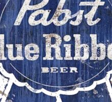 Pabst Blue Ribbon Beer Distressed Sticker