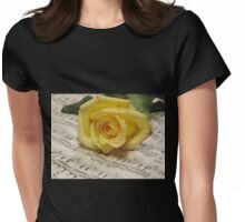 Classical Rose Womens Fitted T-Shirt