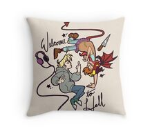 W2H - floaty junk Throw Pillow