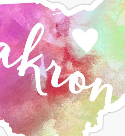 Akron Sticker