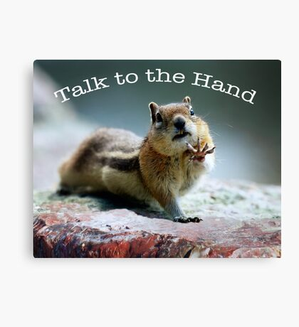 Talk to the Hand  Canvas Print