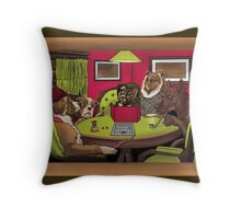 Dogs Playing Dungeons & Dragons Throw Pillow