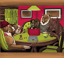 Dogs Playing Dungeons & Dragons by Brandon Matlock