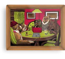 Dogs Playing Dungeons & Dragons Metal Print