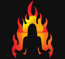 Yoga Flame Womens Fitted T-Shirt