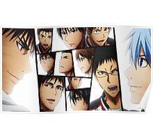 Face Expression Kuroko's Basketball Poster