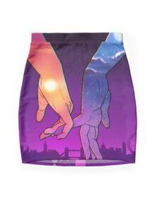 Sun & Moon Mini Skirt