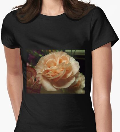 Peach Carnation Womens Fitted T-Shirt