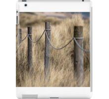 Footpath posts through dunes iPad Case/Skin
