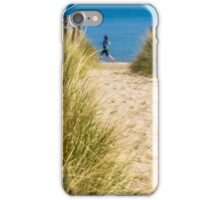 Path through sand dunes to beach iPhone Case/Skin