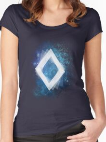Spacey Diamond  Women's Fitted Scoop T-Shirt