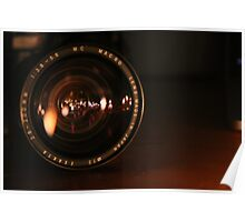 Camera Lens Candle Reflection Poster