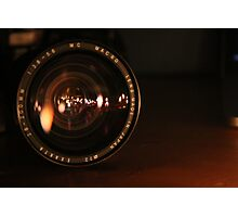 Camera Lens Candle Reflection Photographic Print