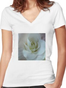 Bounteous Begonia Women's Fitted V-Neck T-Shirt