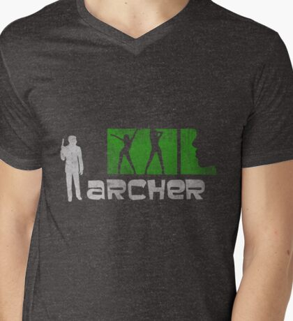 Archer  Mens V-Neck T-Shirt