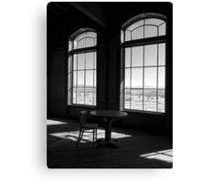 Table and Chair and The Windows Canvas Print