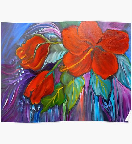 HIBISCUS WHIMSY Poster