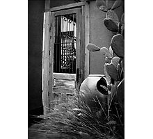 Tucson Door ~ Black & White Photographic Print