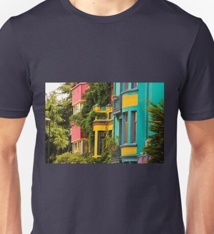 Colorful Homes, Istanbul, Turkey Unisex T-Shirt