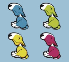 Innocent English Bull Terrier Puppy Block Pattern  One Piece - Short Sleeve