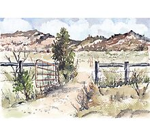 A gate in the Karoo Photographic Print