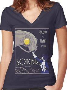 How to Train Your Songbird Women's Fitted V-Neck T-Shirt
