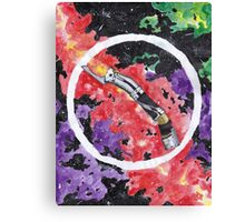 Count Duku Light Saber Canvas Print