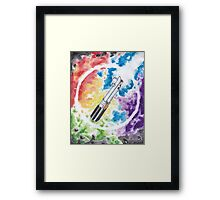 Anakin Light Saber Framed Print