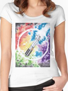 Anakin Light Saber Women's Fitted Scoop T-Shirt