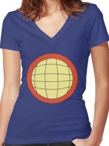 Captain Planet - Planeteer -  fire - Wheeler T-Shirt! Women's Fitted V-Neck T-Shirt