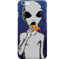 Pizza Alien / 8 - Bit iPhone Case/Skin