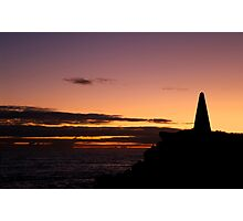 Sunset at the Obelisk Photographic Print