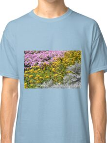 Colorful rows of flowers in the park. Classic T-Shirt