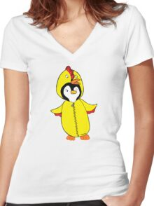 Pengychicken Women's Fitted V-Neck T-Shirt