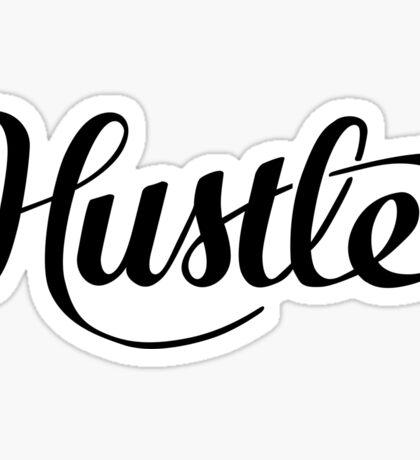 Hustle Script - Black Sticker