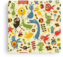 Happy Monsters Holidays Canvas Print