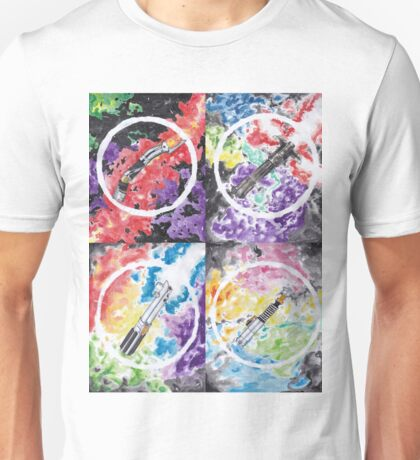 Light saber pattern Unisex T-Shirt
