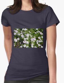 White spring flowers in the park. Womens T-Shirt