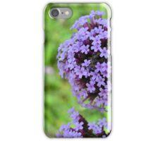 Macro on purple spring flowers. iPhone Case/Skin