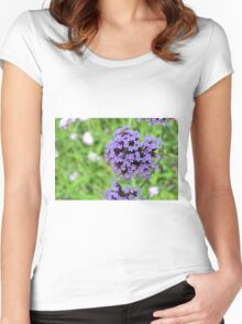 Macro on purple spring flowers. Women's Fitted Scoop T-Shirt