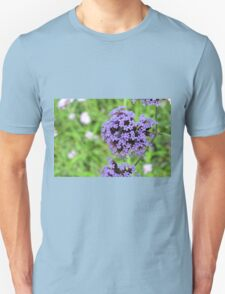 Macro on purple spring flowers. T-Shirt
