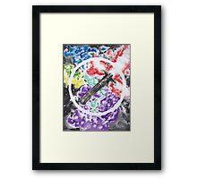 Kylo Ren Light Saber Framed Print