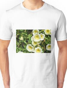 Yellow light flowers in the park. Unisex T-Shirt