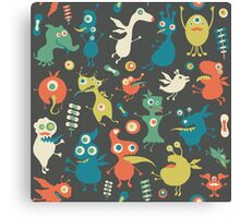 Happy Monsters Party Canvas Print
