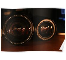 Camera Lens Candle Reflection 2 Poster