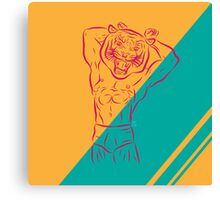 Trained Tiger Canvas Print